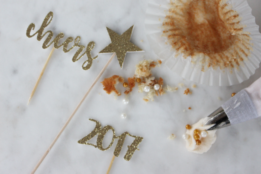 The Perfect Boozy NYE Sparkling Wine Cupcakes 12