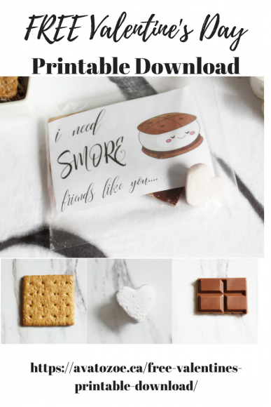 "Free Valentine's Printable Download ""I Need S'more Friends Like You"" 7"