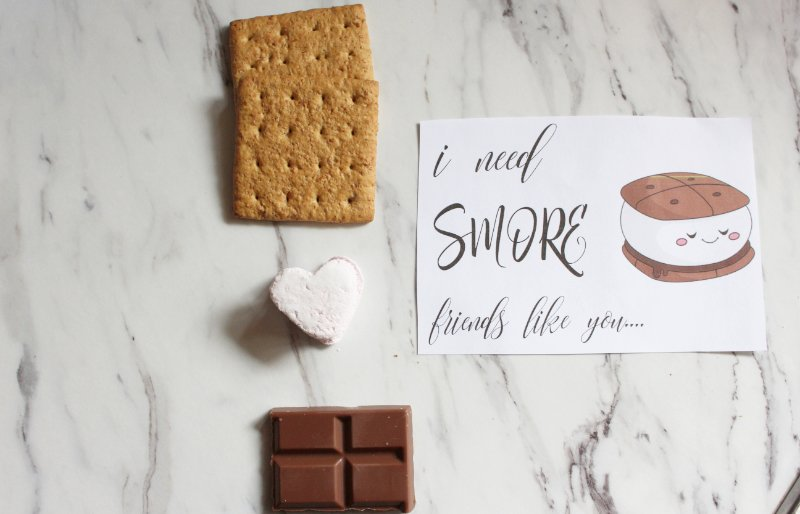 """Free Valentine's Printable Download """"I Need S'more Friends Like You"""" 5"""