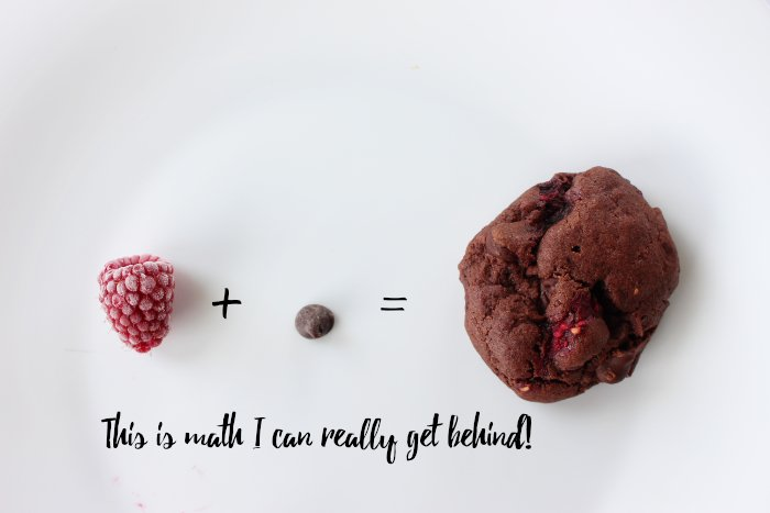 Delicious Double Chocolate Raspberry Cookies {Recipe}