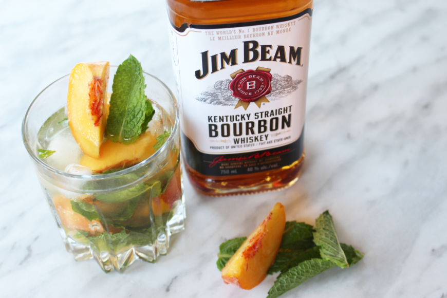Afternoon Cocktails! Bourbon Peach Smash Recipe 9