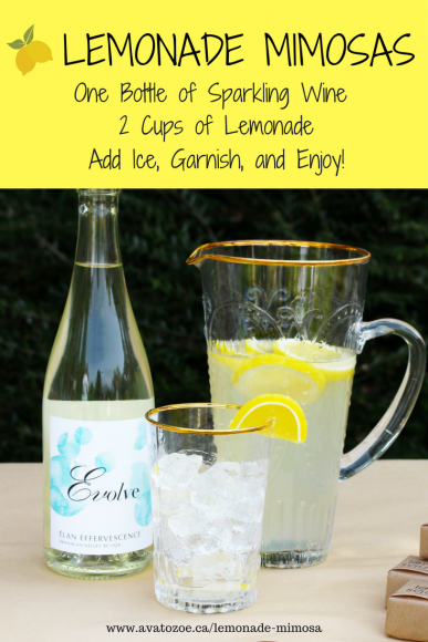 A Grown Up Twist On A Childhood Classic- Lemonade Mimosa 5