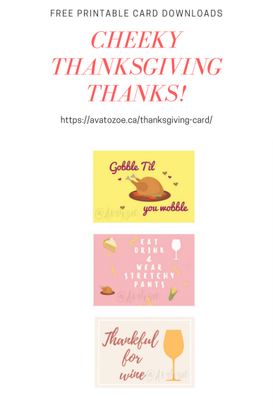 Free Printable Thanksgiving Card Downloads