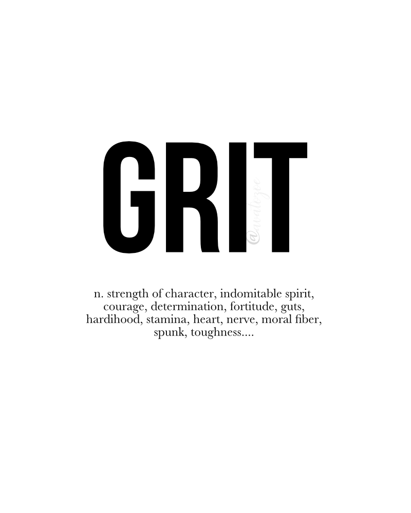 Grit: My Word For 2018 & New Years Challenge! 3