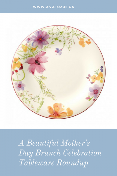 A Beautiful Mother's Day Brunch Celebration Tableware Roundup 4